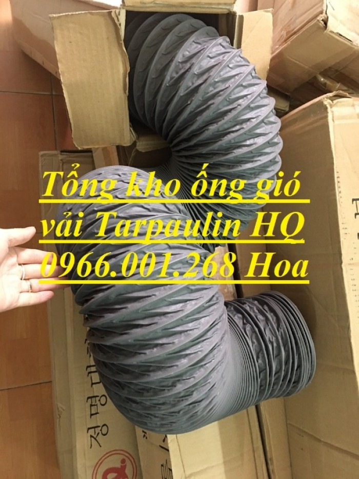 Ống gió mềm vải Tarpaulin phi 100,phi 150,phi 200,phi 250,phi 300,phi 35017