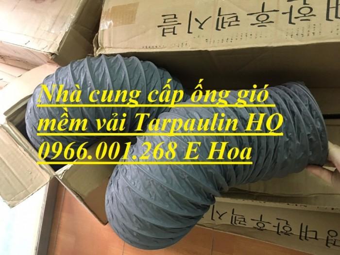 Ống gió mềm vải Tarpaulin phi 100,phi 150,phi 200,phi 250,phi 300,phi 3509