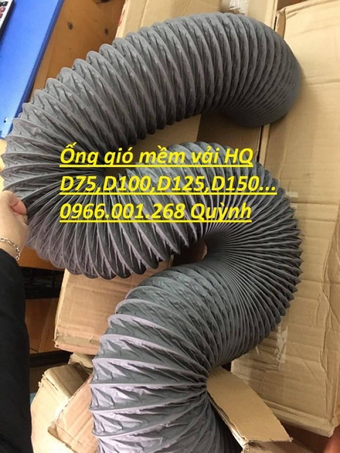 Ống gió mềm vải Tarpaulin phi 100,phi 150,phi 200,phi 250,phi 300,phi 35016