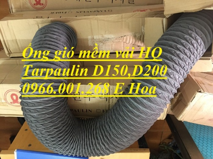 Ống gió mềm vải Tarpaulin phi 100,phi 150,phi 200,phi 250,phi 300,phi 35010