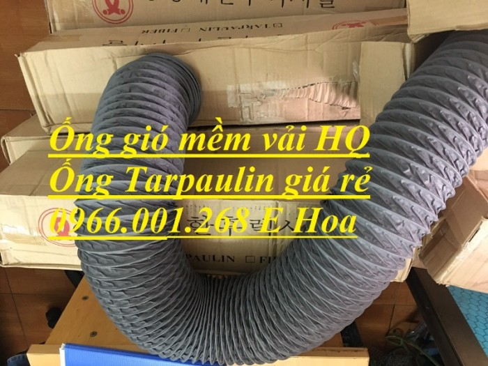 Ống gió mềm vải Tarpaulin phi 100,phi 150,phi 200,phi 250,phi 300,phi 3508