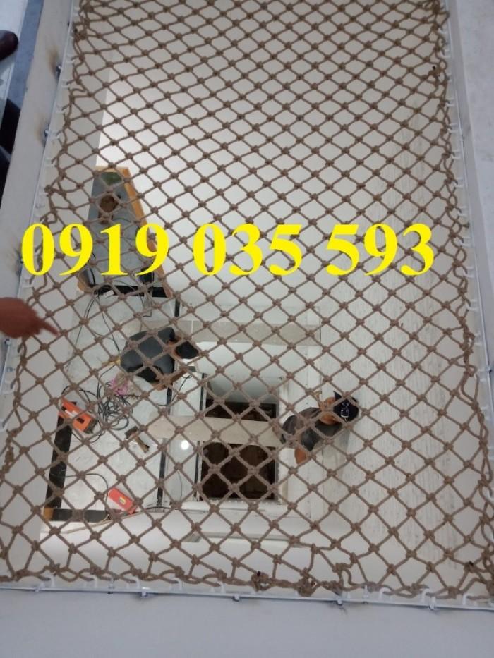 Lưới giếng trời an toàn nằm thư giãn,lưới dây thừng trang trí an toàn2