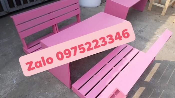 Bàn ghế gỗ bệt nhiều mẫu đa màu..2