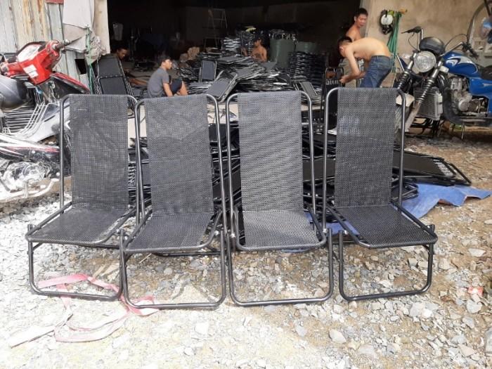 Bộ ghế sắt lưới xếp nhiều màu giá hạt giẻ5