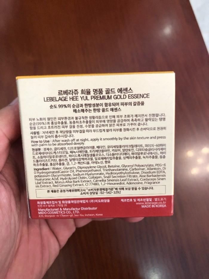 Tinh chất dưỡng Lebelage Hee Yul Premium Gold Essence xách tay Hàn Quốc3