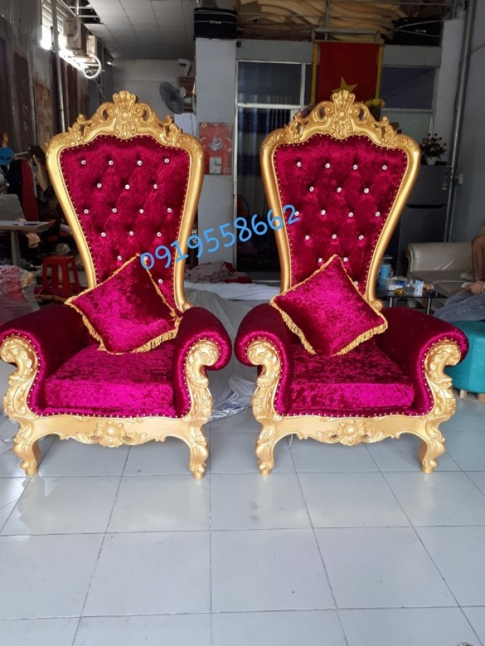 Nơi bán ghế vua cổ điển, ghế nữ hoàng giá rẻ tại tphcm11