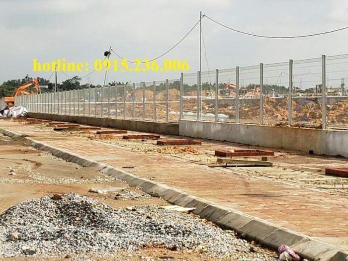 Thi công hàng rào lưới thép tại công trình Sông Công II - Thái Nguyên1