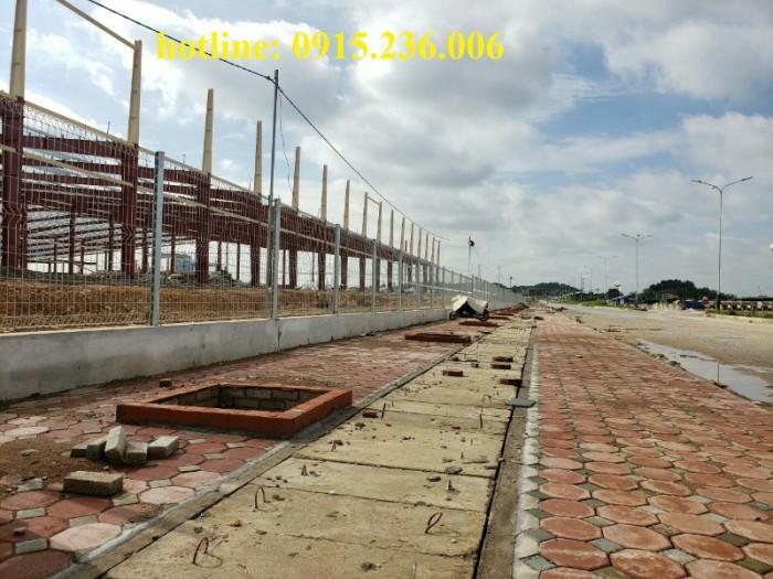 Thi công hàng rào lưới thép tại công trình Sông Công II - Thái Nguyên0