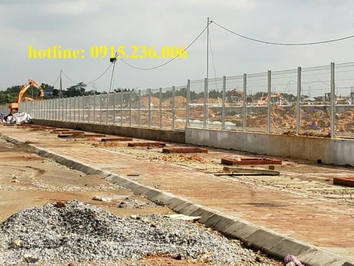Thi công hàng rào lưới thép tại công trình Sông Công II - Thái Nguyên2
