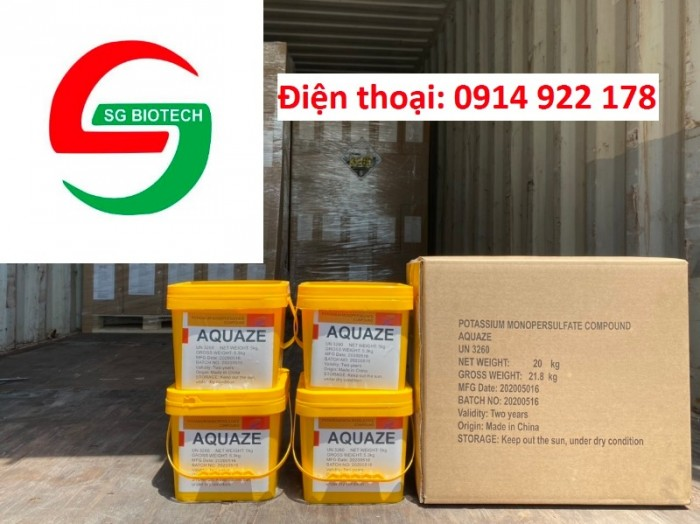 Diệt khuẩn Potassium Permonosulfate an toàn, phổ rộng (Aquaze)0