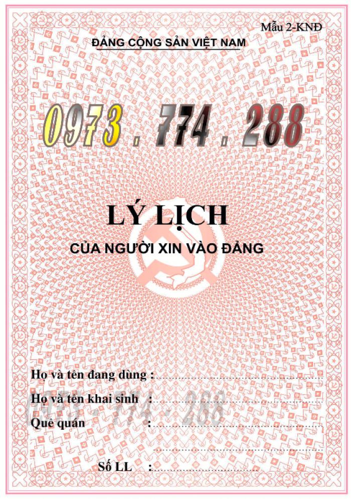 Bán quyển lý lịch của người xin vào Đảng2