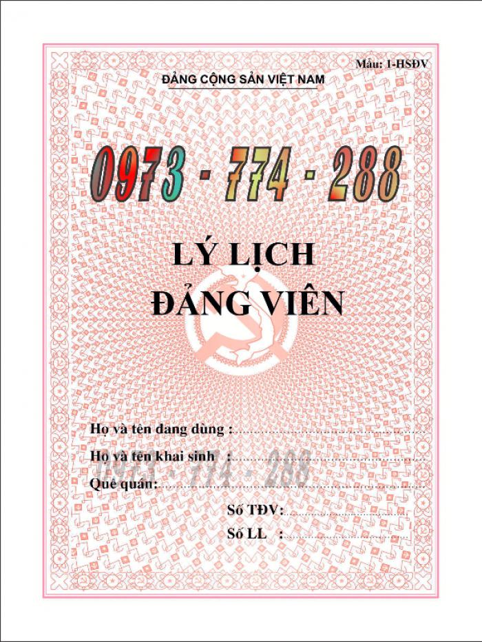 Bán quyển lý lịch của người xin vào Đảng7
