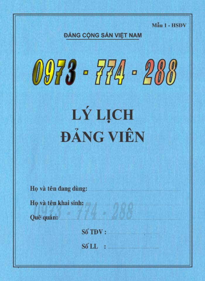 Bán quyển lý lịch của người xin vào Đảng8