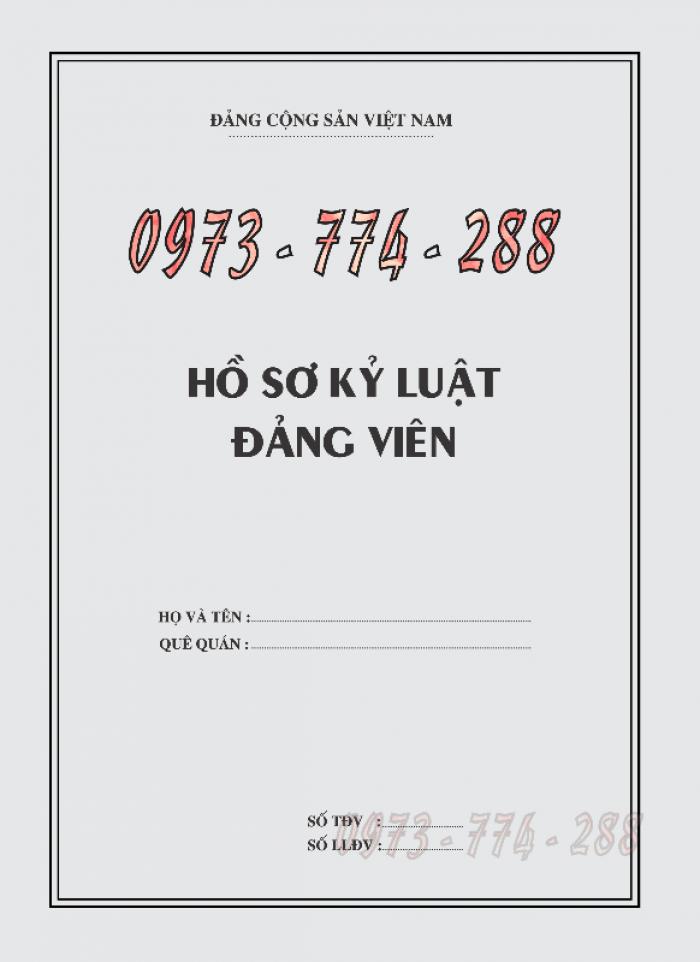 Bán quyển lý lịch của người xin vào Đảng21