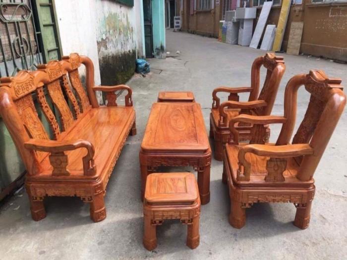 Bộ Bàn Ghế Minh Quốc Triện gỗ hương đá9