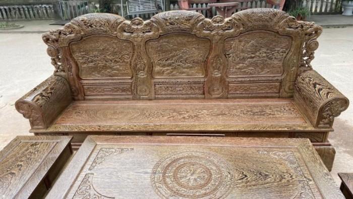Bộ bàn ghế khổng tử gỗ mun đuôi công15