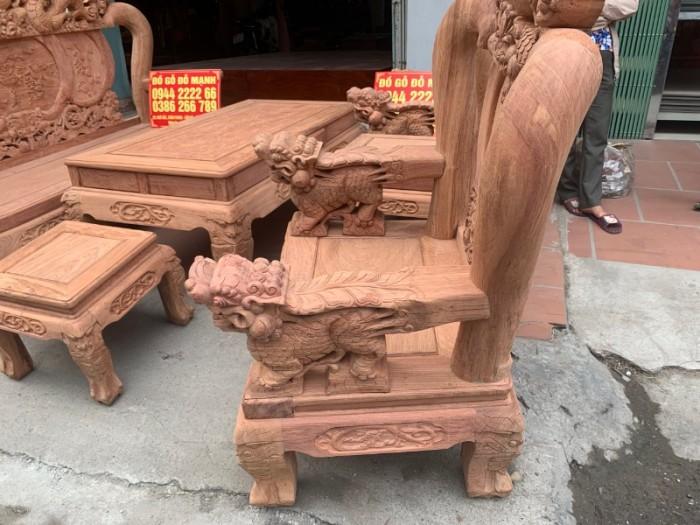 Bộ bàn ghế giả cổ nghê đỉnh gỗ hương đá21