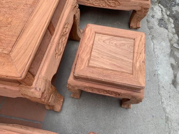 Bộ bàn ghế giả cổ nghê đỉnh gỗ hương đá23