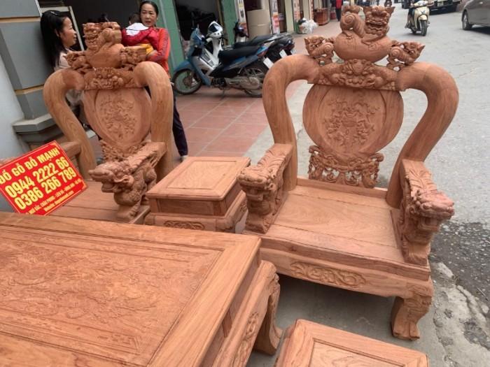 Bộ bàn ghế giả cổ nghê đỉnh gỗ hương đá28
