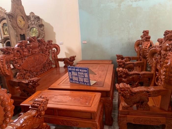 Bộ bàn ghế giả cổ nghê khuỳnh gỗ hương đá19
