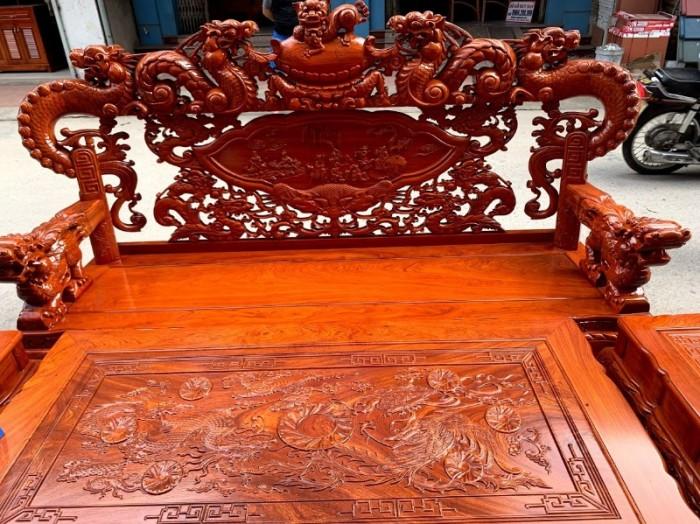 Bộ bàn ghế giả cổ nghê khuỳnh gỗ hương đá23