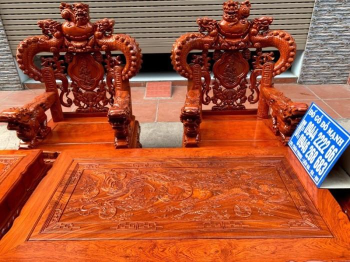 Bộ bàn ghế giả cổ nghê khuỳnh gỗ hương đá21