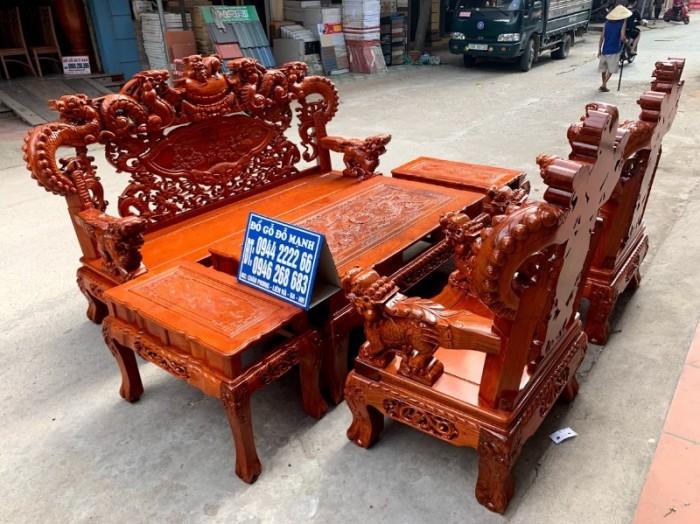 Bộ bàn ghế giả cổ nghê khuỳnh gỗ hương đá22