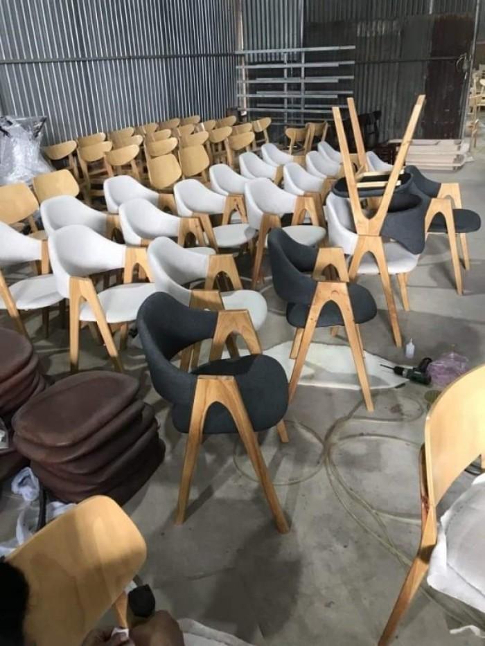 Ghế chữ A gỗ tự nhiên bọc nệm sản xuất bán giá tại xưởng..1