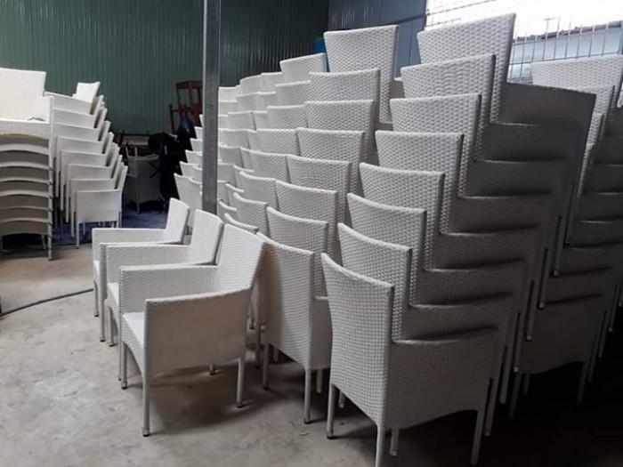 Xả gấp lô ghế nhựa giả mây kiểu dáng sang trọng..1