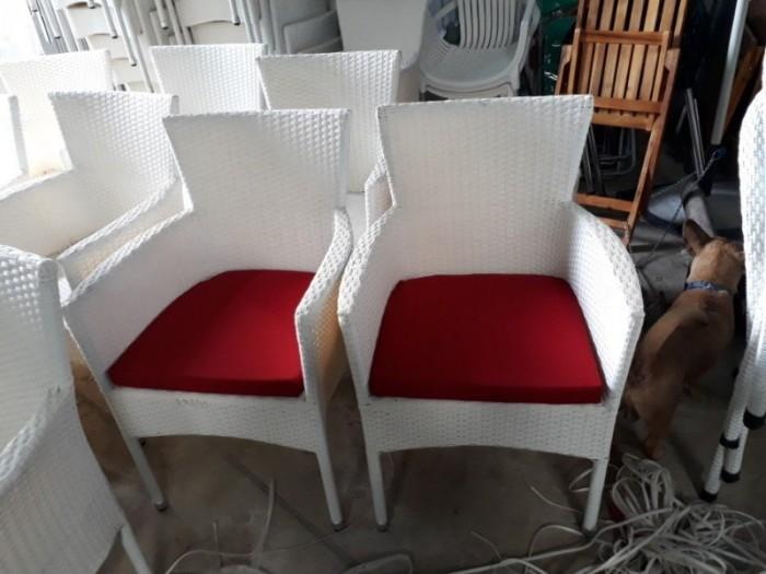 Xả gấp lô ghế nhựa giả mây kiểu dáng sang trọng..3