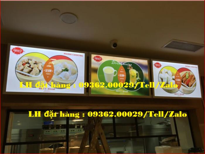 Biển menu thực đơn quán trà sữa gắn đèn led siêu mỏng giá rẻ0