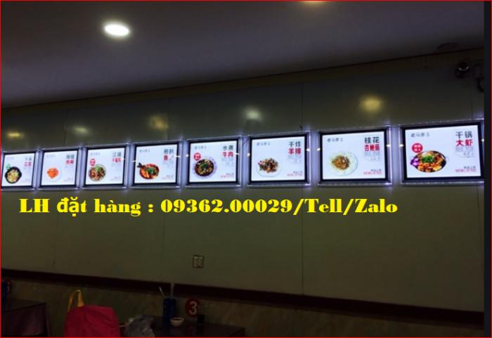 Biển menu thực đơn quán trà sữa gắn đèn led siêu mỏng giá rẻ2