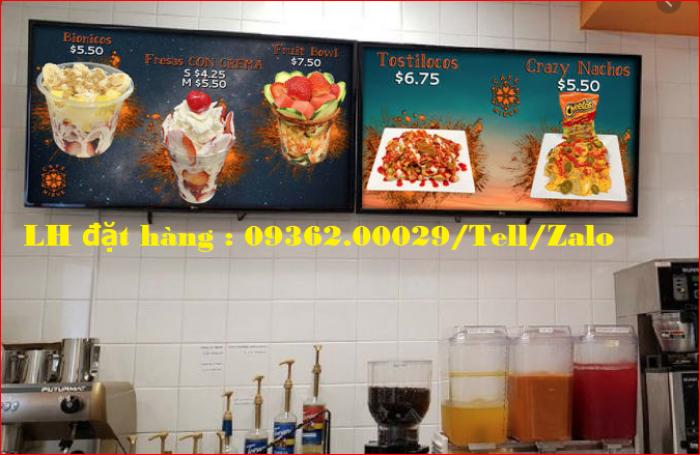 Biển menu thực đơn quán trà sữa gắn đèn led siêu mỏng giá rẻ3