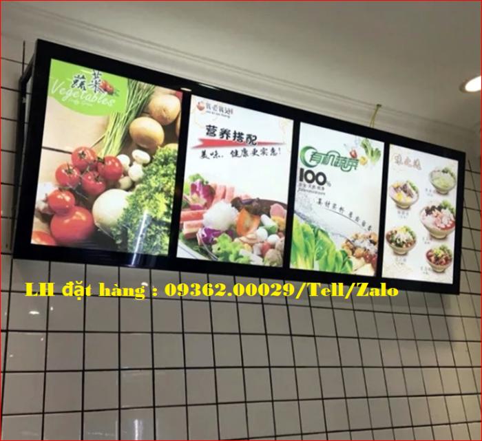 Biển menu thực đơn quán trà sữa gắn đèn led siêu mỏng giá rẻ9