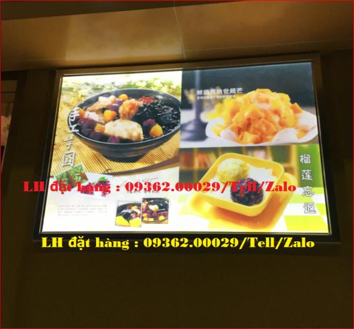 Biển menu thực đơn quán trà sữa gắn đèn led siêu mỏng giá rẻ12