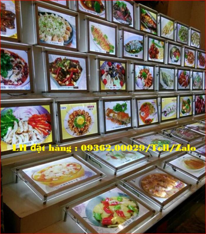 Biển menu thực đơn quán trà sữa gắn đèn led siêu mỏng giá rẻ14