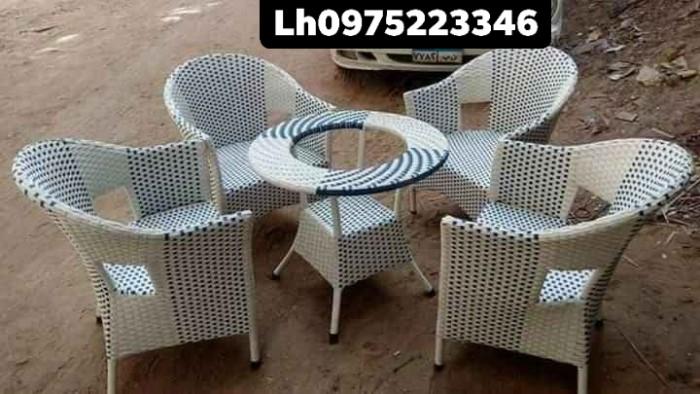 Sản xuất bàn ghế nhựa giả mây, bàn ghế sắt các loại, sản phẩm cty làm ra3