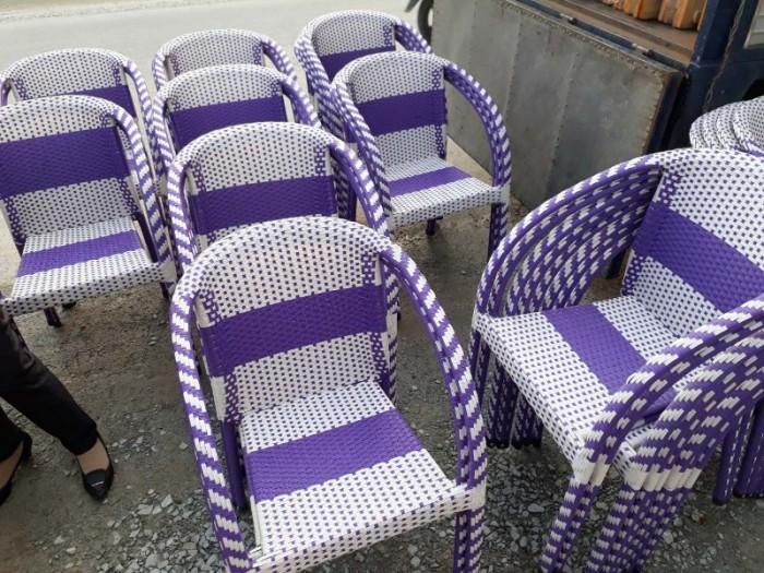 Thanh lý 300 cái ghế nhựa giả mây bảo hành 12 tháng..2