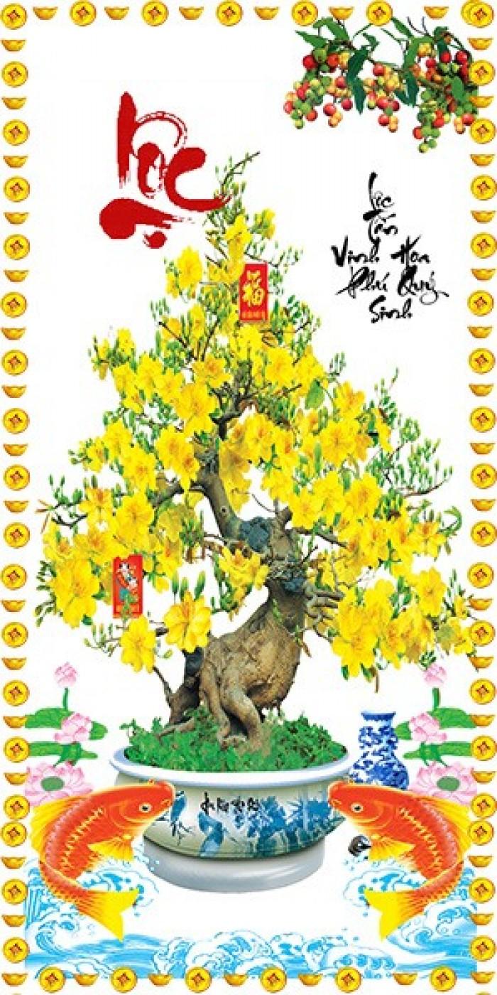 Tranh cây mai vàng 3d0
