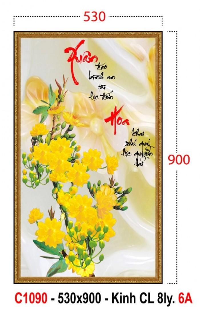 Tranh cây mai vàng 3d1