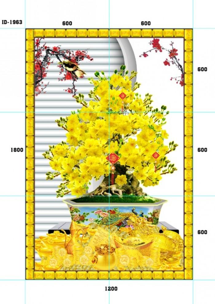 Tranh cây mai vàng 3d3