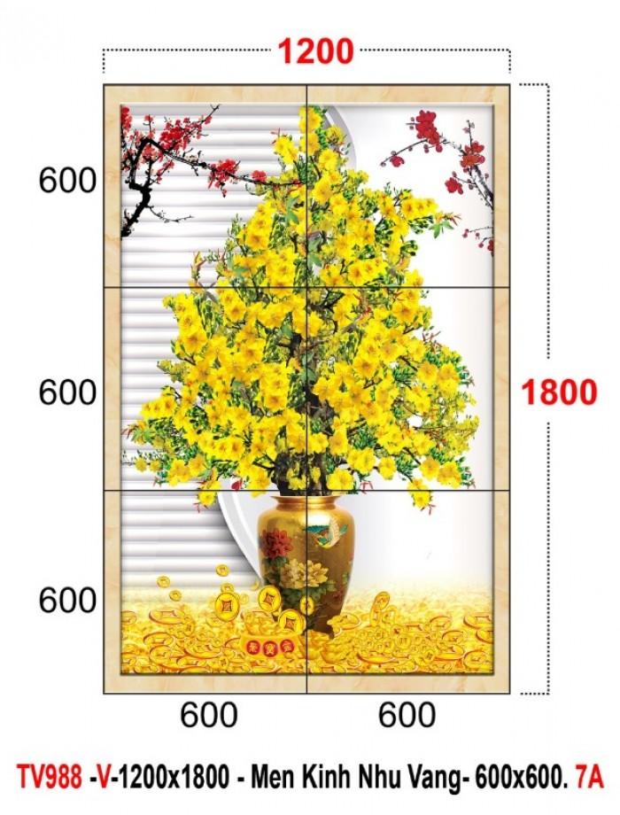 Tranh cây mai vàng 3d2