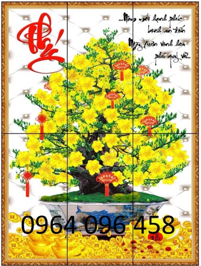 Tranh cây mai vàng 3d4