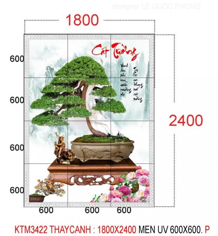 Tranh 3d cây tùng - gạch tranh 3d cây tùng0