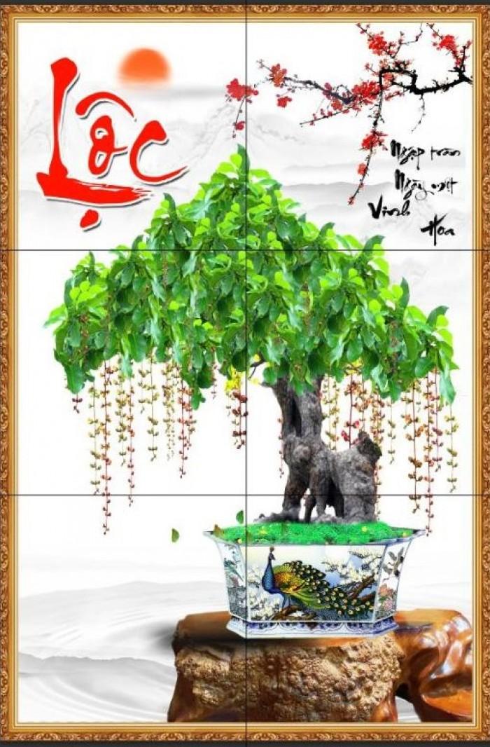 Tranh 3d cây tùng - gạch tranh 3d cây tùng3