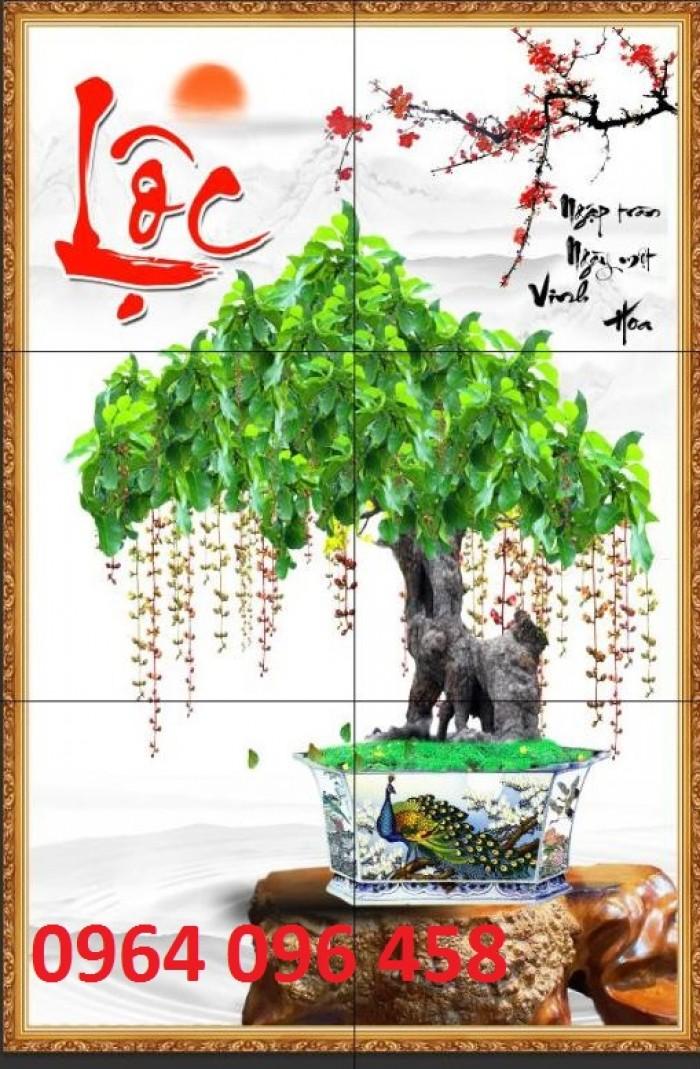 Tranh 3d cây tùng - gạch tranh 3d cây tùng7