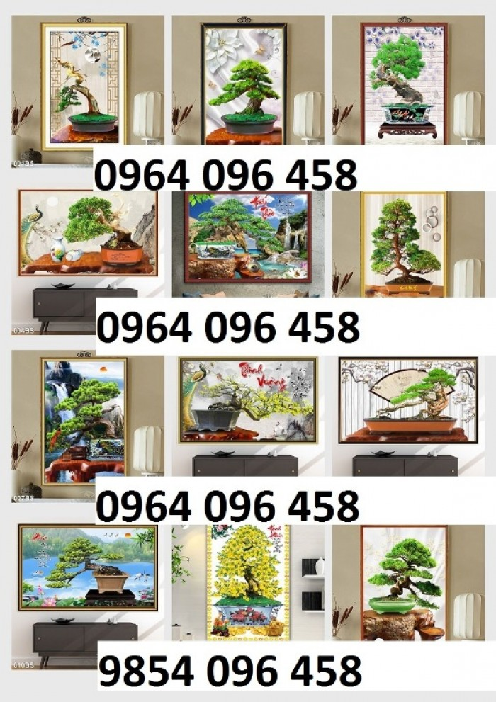 Tranh 3d cây tùng - gạch tranh 3d cây tùng8