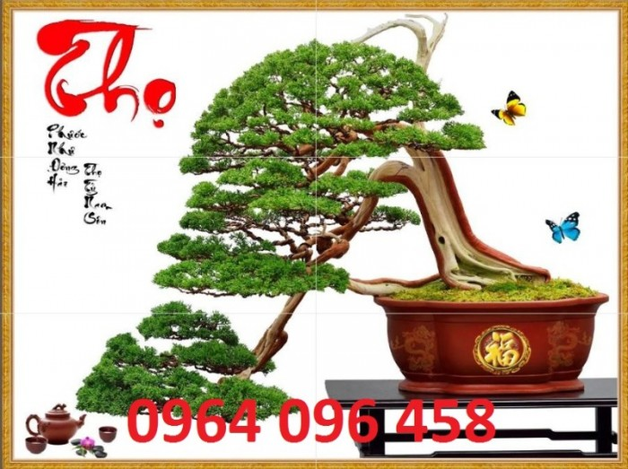 Tranh 3d cây tùng - gạch tranh 3d cây tùng1