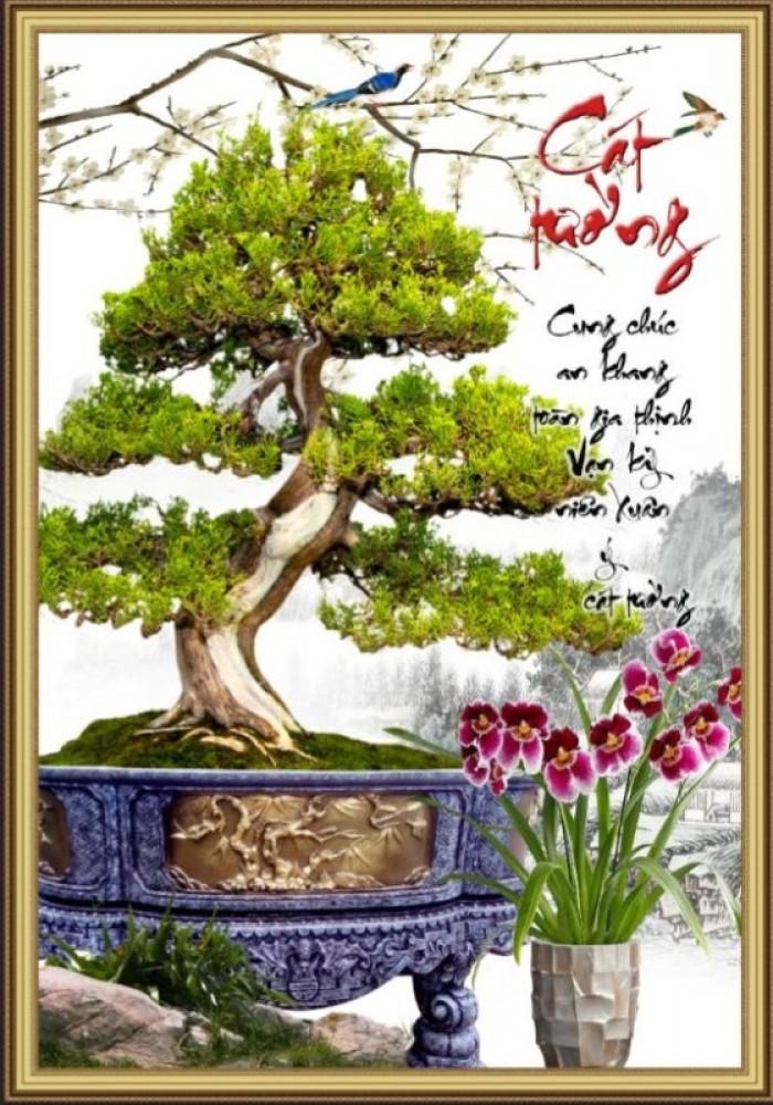 Tranh 3d cây tùng - gạch tranh 3d cây tùng6