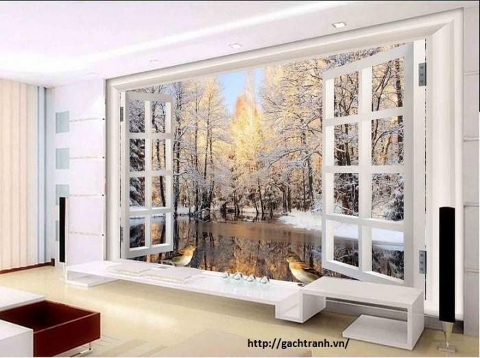 Gạch ốp tường 3d cửa sổ1